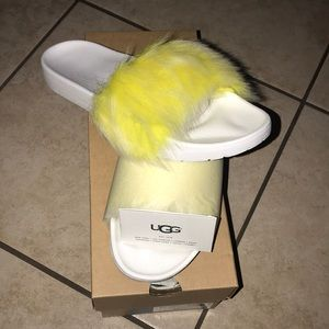 Women's UGG ROYALE SLIDE YELLOW #10